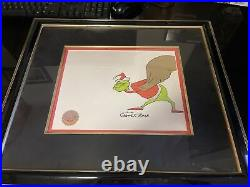 1966 mgm DR. SEUSS' How The Grinch Stole christmas signed by chuck jones art