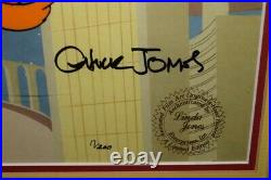 1987 Chuck Jones Daffy & Porky Framed Cel Artwork Hand signed 17/200