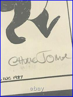 1987 Pepe Le Pew Art Print Hand Signed By Chuck Jones
