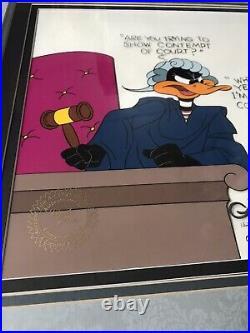 1987- Warner Bros. Bugs Bunny Animation Cel Signed by Chuck Jones Framed