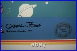 1988 Chuck Jones Bugs and Marvel II Framed Cel Artwork Hand signed 141/300