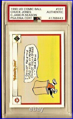 1990 Upper Deck UD Comic Ball #331 Looney Tunes Chuck Jones AUTO PSA/DNA Signed