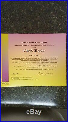 3 Rare Limited Edition Chuck Jones Warner Brothers Animation Cels Signed, COA's