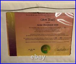 ACME HARPOON GUN Chuck Jones Hand Signed Limited Edition Cel'ROAD RUNNER