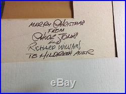 A CHRISTMAS CAROL Chuck Jones Richard Williams Signed Cel Original Production