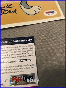 Autographed Chuck Jones 8x10 photo Bugs Bunny PSA certified signed