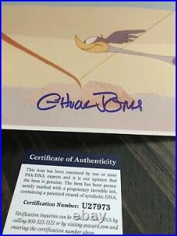 Autographed Chuck Jones Road Runner 8x10 photo PSA certified signed
