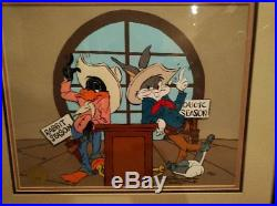 BUGS BUNNY & DAFFY DUCK SHOWDOWN FRAMED SIGNED CHUCK JONES WB cel LTD #289/500