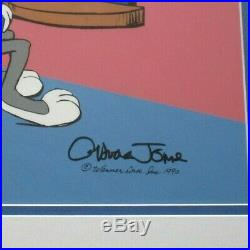 BUGS BUNNY Mirror SIGNED CHUCK JONES Warner Brothers Limited Edition Cel FRAMED