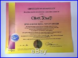 BUGS BUNNY & WITCH HAZEL TRUANT OFFICER Signed Cel with COA Chuck Jones