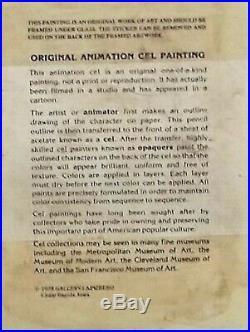 BUGS BUNNY & YOSEMITE SAM Original Production Cel Signed by Chuck Jones