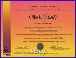 BUGS & ELMER Rabbit Of Seville RARE Warners Ltd Ed CEL Signed CHUCK JONES