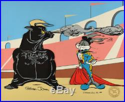 BULLY FOR BUGS SIGNED CHUCK JONES Warner Brothers Limited Edition Cel FRAMED