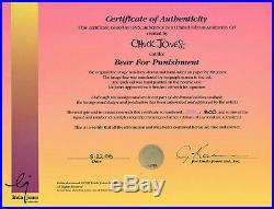 Bear For Punishment Hand Signed Chuck Jones L/E cel Looney Tunes Three Bears