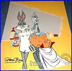 Bugs Bunny Cel Elmer Fudd Rabbit Of Seville II Signed Chuck Jones Warner Bros