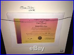 Bugs Bunny Cel Knightmare Hare 2x Signed Chuck Jones Warner Bros. 1998 Rare Cell
