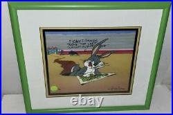 Bugs Bunny Cel Left At Albuquerque Rare Warner Brothers Chuck Jones Signed Cell