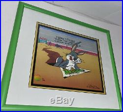 Bugs Bunny Cel Left At Albuquerque Rare Warner Brothers Signed Chuck Jones