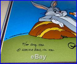 Bugs Bunny Cel Warner Brothers Animation Signed Chuck Jones Art Cell