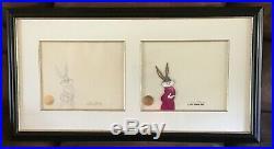 Bugs Bunny/Road Runner Movie Signed Chuck Jones 1 of 1 Animation Original Cell