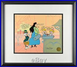 Bugs Bunny SIGNED CHUCK JONES Warner Brothers Limited Edition Cel cell FRAMED
