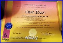 Bugs Bunny & Witch Hazel Truant Officer Chuck Jones Signed Cel WithCOA 97/750