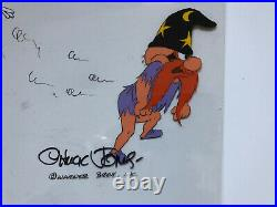 Bugs Bunny Yosemite Sam Original Animation Production Cel Chuck Jones Signed