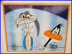 Bugs Bunny and Daffy Duck- Funny Faces Production Cel Signed By Chuck Jones