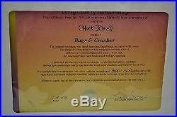 Bugs & Crusher Bugs Bunny Animation Art Cel Signed Chuck Jones Framed LE 300/500