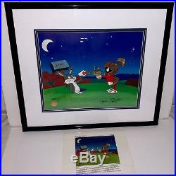 Bugs bunny cel marvin martian peace and carrots signed chuck jones warner bros