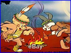 Bugs bunny elmer fudd warner bros cel dances with wabbits chuck jones signed