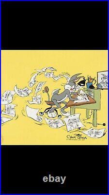Bugs bunny limited edition Chuck Jones signed animation cel