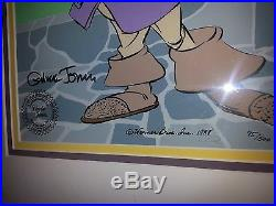 CAVALIER DAFFY Duck signed by Chuck Jones Hand painted Ltd. Edition Cel -save$