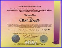 CHARIOTS OF FUR 1994 Two Original Production Cels BOTH Signed by Chuck Jones