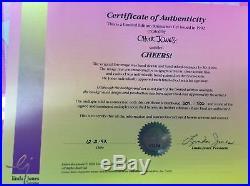 CHEERS! Hand Signed Chuck Jones cel Looney Tunes BUGS BUNNY, DAFFY & ELMER