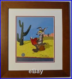 CHUCK JONES ACME CATALOGUE ANIMATION CEL SIGNED #31/500 WithCOA PROF FRAMED