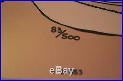 CHUCK JONES ANIMATION CEL SANTA ON TRIAL BUGS BUNNY SIGNED #83/500 WithCOA