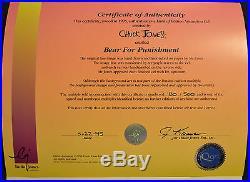 CHUCK JONES BEAR FOR PUNISHMENT ANIMATION CEL SIGNED #180/500 WithCOA