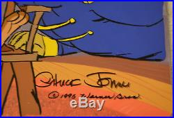 CHUCK JONES BEAR FOR PUNISHMENT ANIMATION CEL SIGNED #387/500 WithCOA