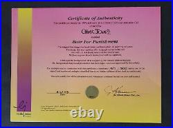 CHUCK JONES BEAR FOR PUNISHMENT HAND PAINTED ANIMATION CEL SIGNED #371/500 WithCOA