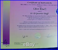 CHUCK JONES BUCK AND A QUARTER STAFF ANIMATION CEL SIGNED #255/500 WithCOA RARE