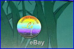 CHUCK JONES BUCK AND A QUARTER STAFF ANIMATION CEL SIGNED #258/500 WithCOA RARE