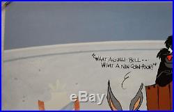 CHUCK JONES BUGS AND GULLI-BULL ANIMATION CEL SIGNED #204/750 WithCOA
