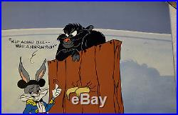 CHUCK JONES BUGS AND GULLI-BULL ANIMATION CEL SIGNED #212/750 WithCOA
