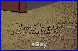 CHUCK JONES BUGS AND GULLI-BULL ANIMATION CEL SIGNED #297/750 WithCOA PROF FRAMED