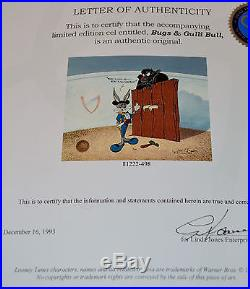 CHUCK JONES BUGS AND GULLI-BULL ANIMATION CEL SIGNED #498/750 WithCOA