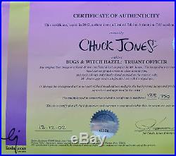 CHUCK JONES CEL BUGS AND WITCH HAZEL TRUANT OFFICER CEL SIGNED/#135/750 WithCOA