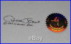 CHUCK JONES CEL BUGS AND WITCH HAZEL TRUANT OFFICER CEL SIGNED/#139/750 WithCOA