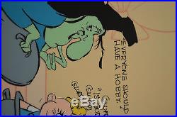 CHUCK JONES CEL BUGS AND WITCH HAZEL TRUANT OFFICER CEL SIGNED/#617/750 WithCOA
