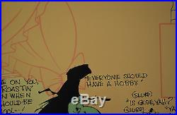 CHUCK JONES CEL BUGS AND WITCH HAZEL TRUANT OFFICER CEL SIGNED/#671/750 WithCOA